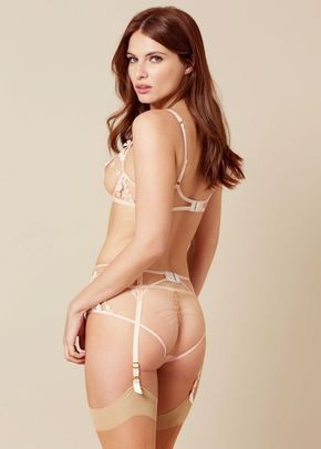 Bethanie Suspender Peach and Blue, Agent Provocateur
