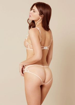 Bethanie Brief Peach and Blue, Agent Provocateur