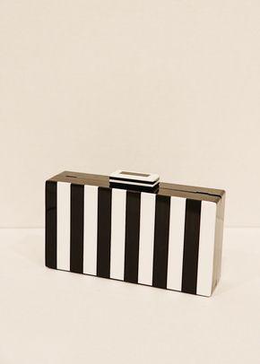 Clutch rayas blanco y negro, Boüret