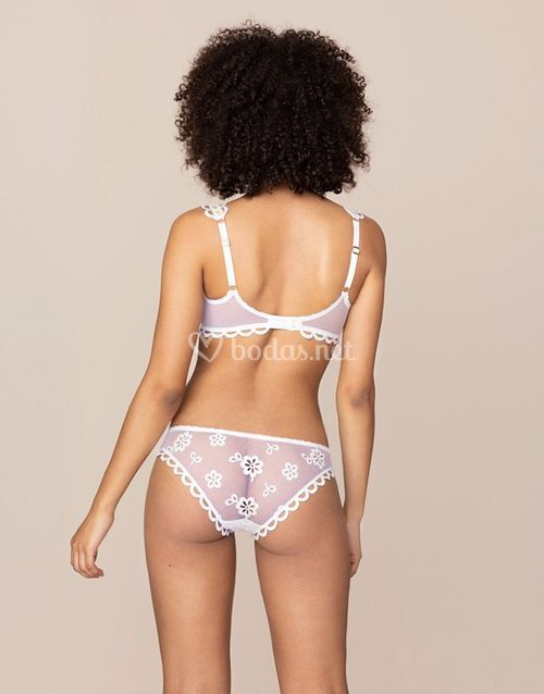 Laurelie Brief White and Lime, Agent Provocateur
