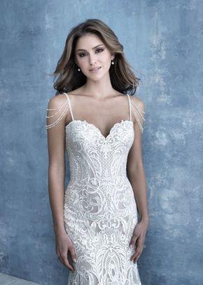 CP45  cap sleeves, Allure Bridals