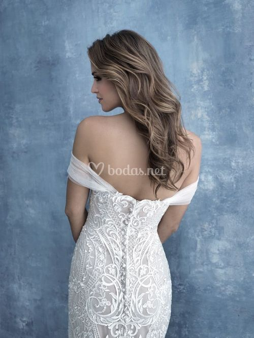 CP43 cap sleeves, Allure Bridals