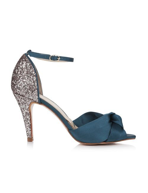 Skyla Teal Satin, Rachel Simpson Shoes