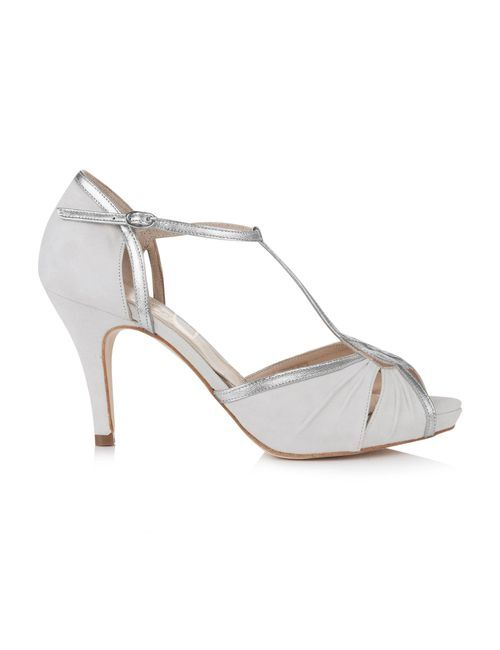Louisa Ivory with silver trim, Rachel Simpson Shoes
