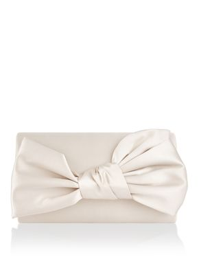 DAPHNE BOW SATIN CLUTCH BAG, Monsoon