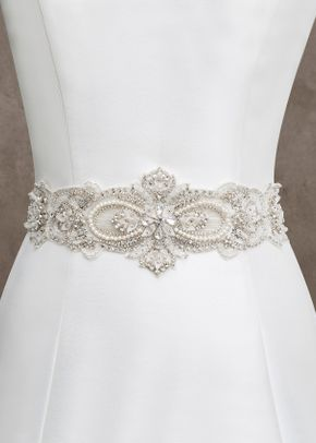 S152 beaded bridal sash, Allure Bridals