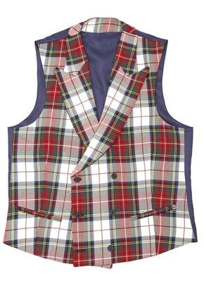 Tartan-white-short-neck, Silbon