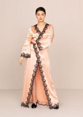 Amelea Long Gown Pink and Black, 546