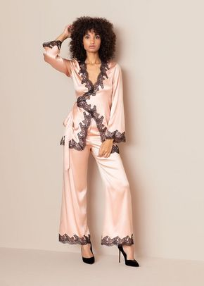 Amelea Pyjama Top Pink Black, 546