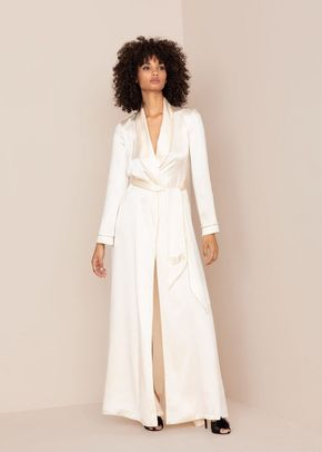 Classic Long Dressing Gown Ivory, 546