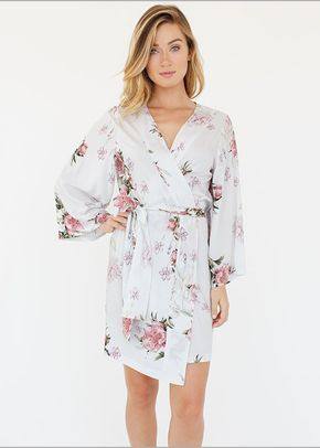 Floral Knee Length Kimono valenti , Plum Pretty Sugar