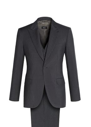 CONTINENTAL THREE-PIECE PINSTRIPE SUIT, Brioni