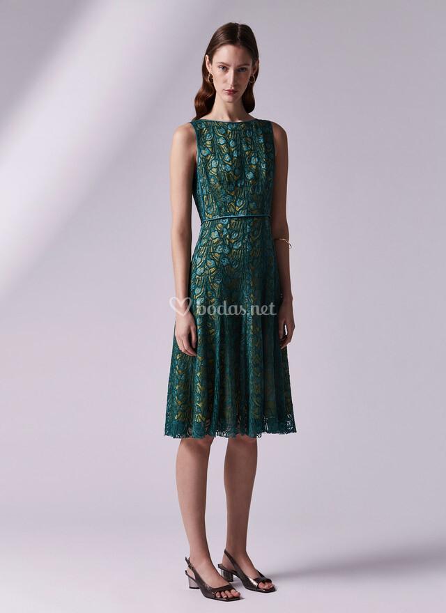 Vestido azul adolfo dominguez 2019