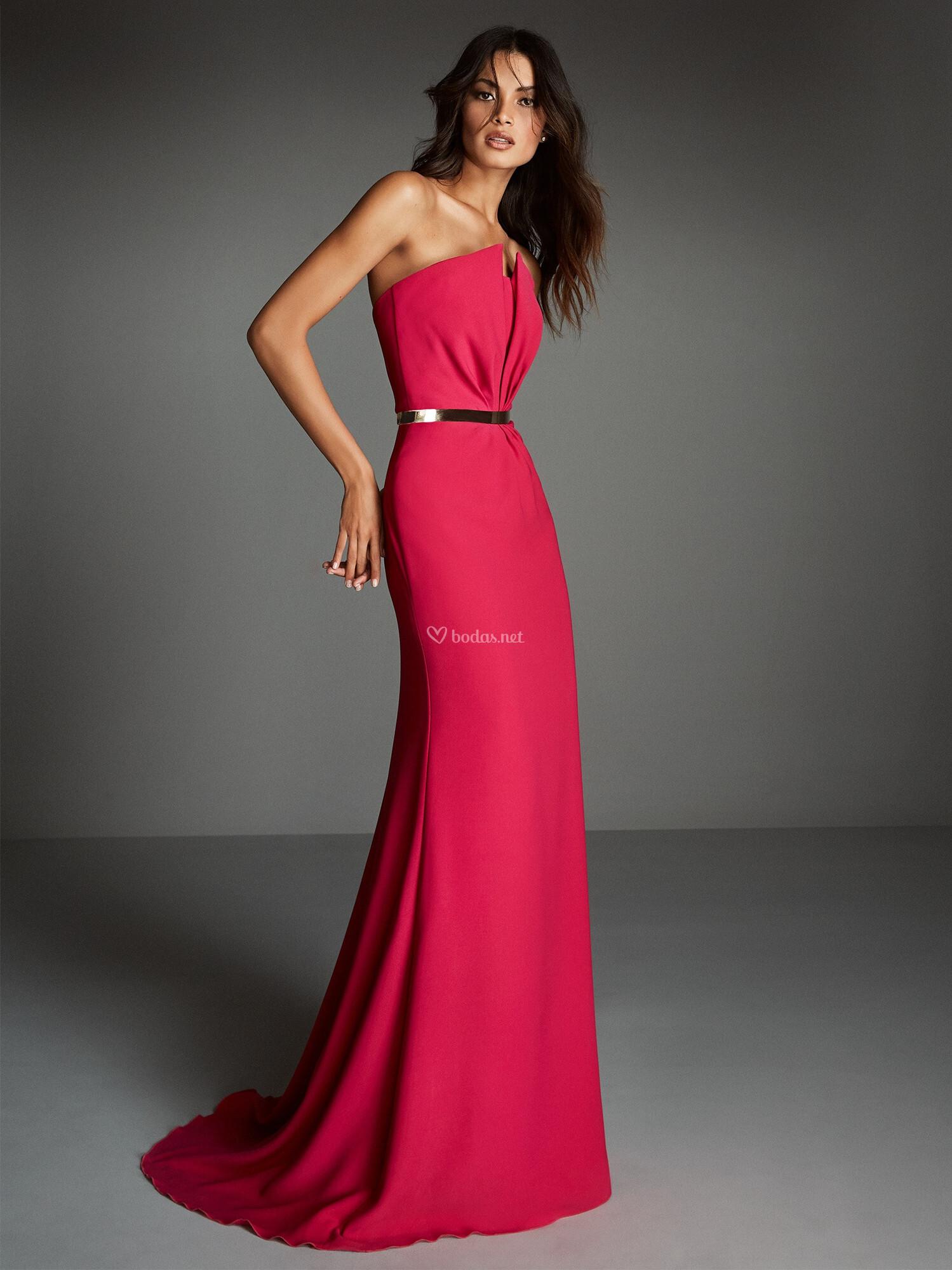 Vestidos fiesta pronovias rojo