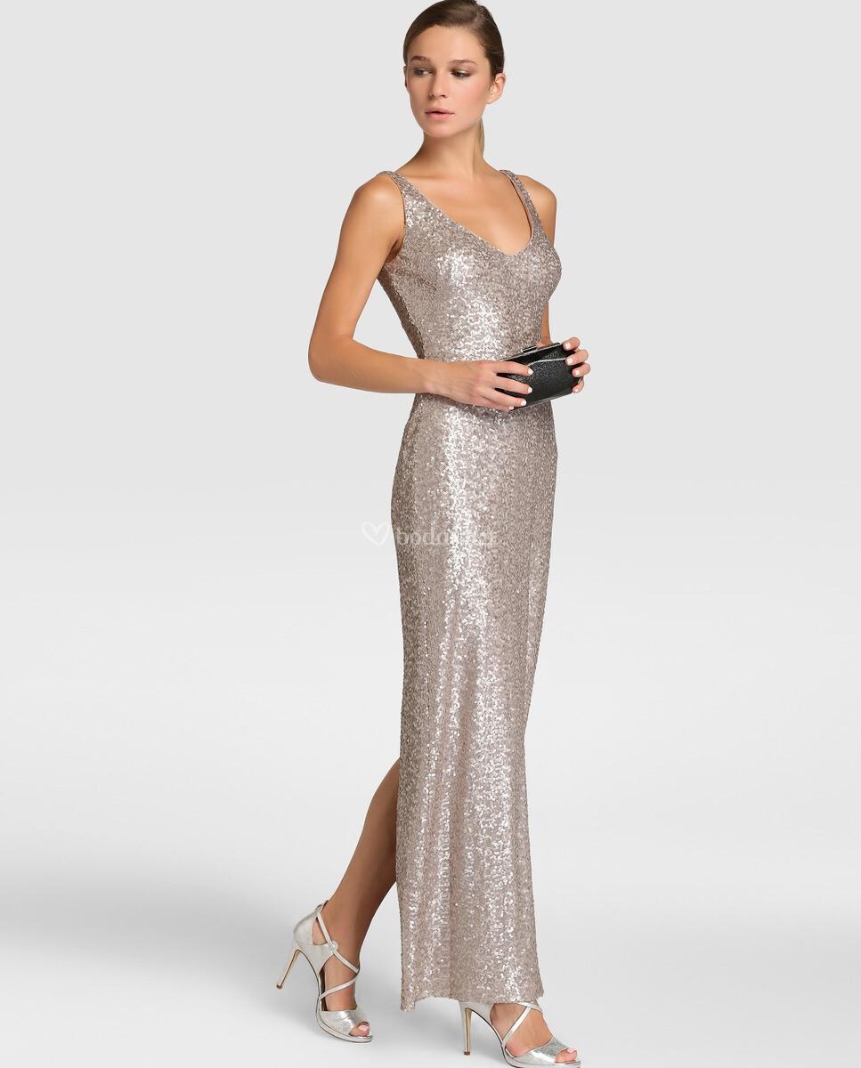 Vestido ralph lauren mujer dorado