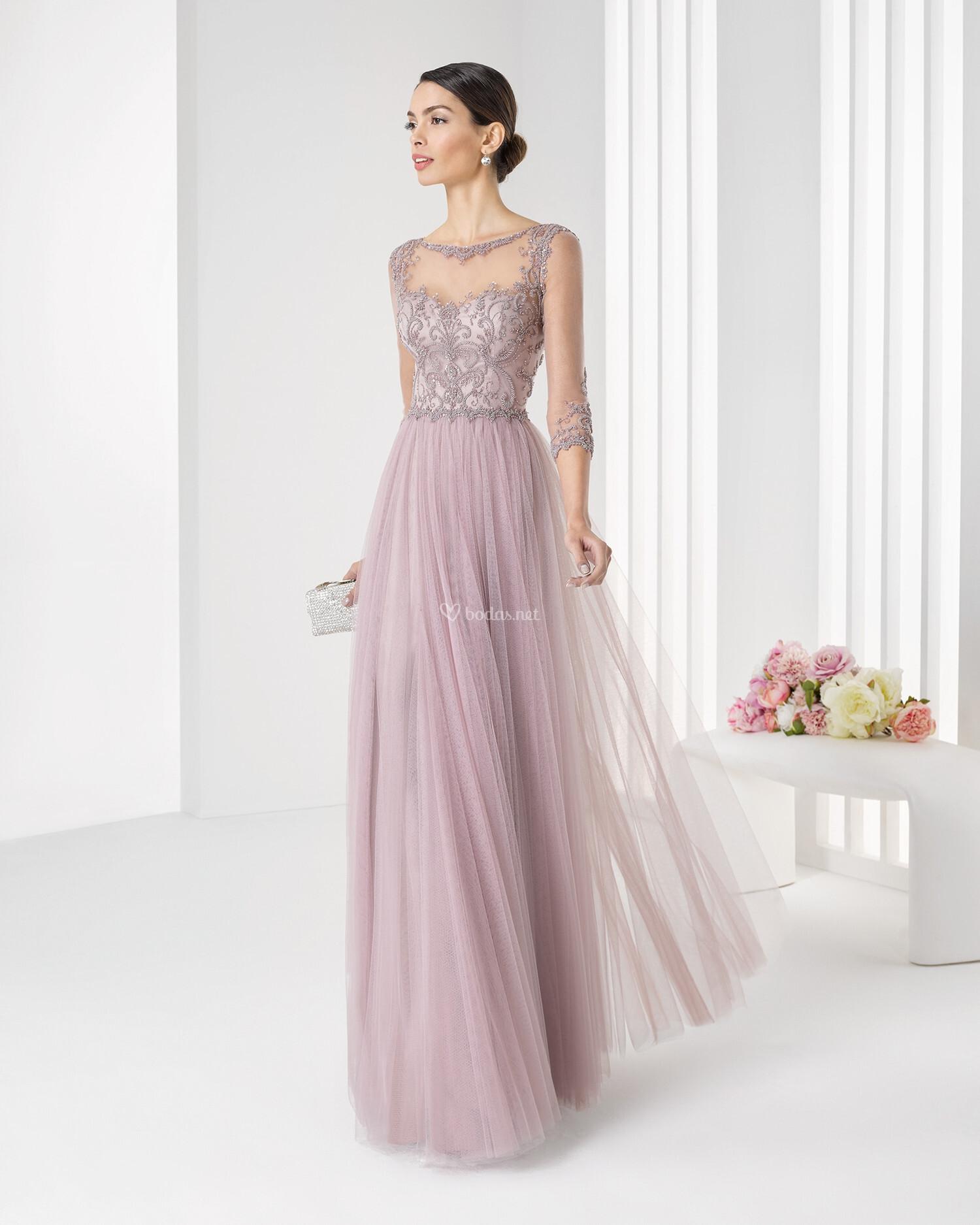 Vestidos de fiesta y coctel rosa clara