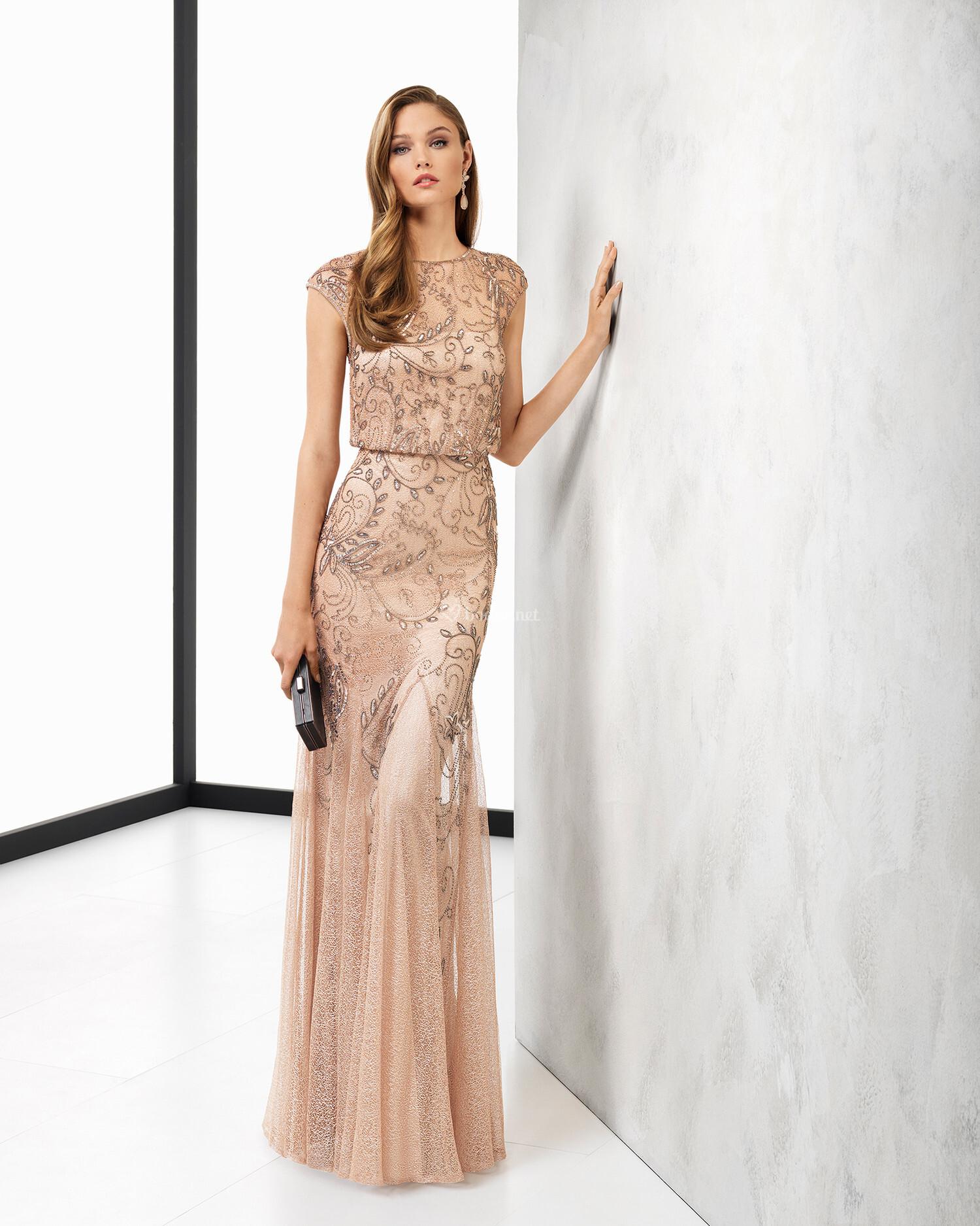 vestidos de fiesta de rosa clar. Black Bedroom Furniture Sets. Home Design Ideas