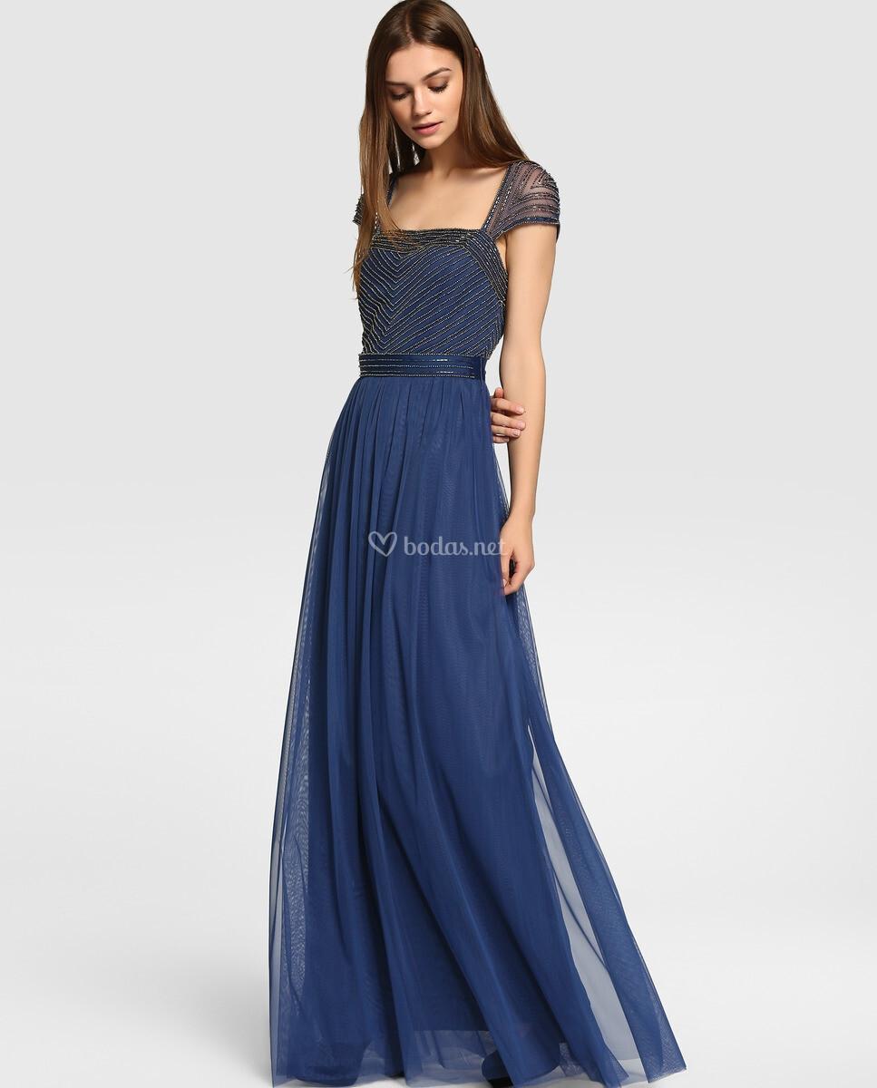 Vestido tintoretto azul marino
