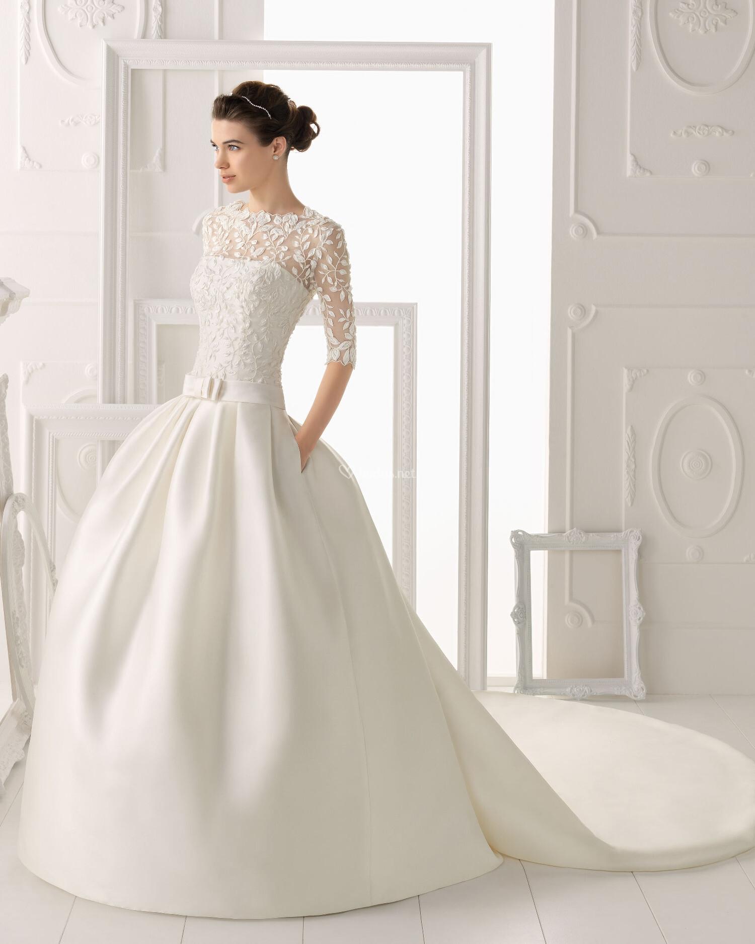 b42df88bff330 Vestido de novia con mangas