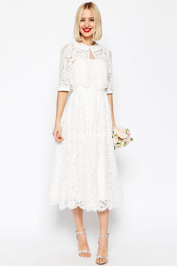Vestidos novia cortos asos