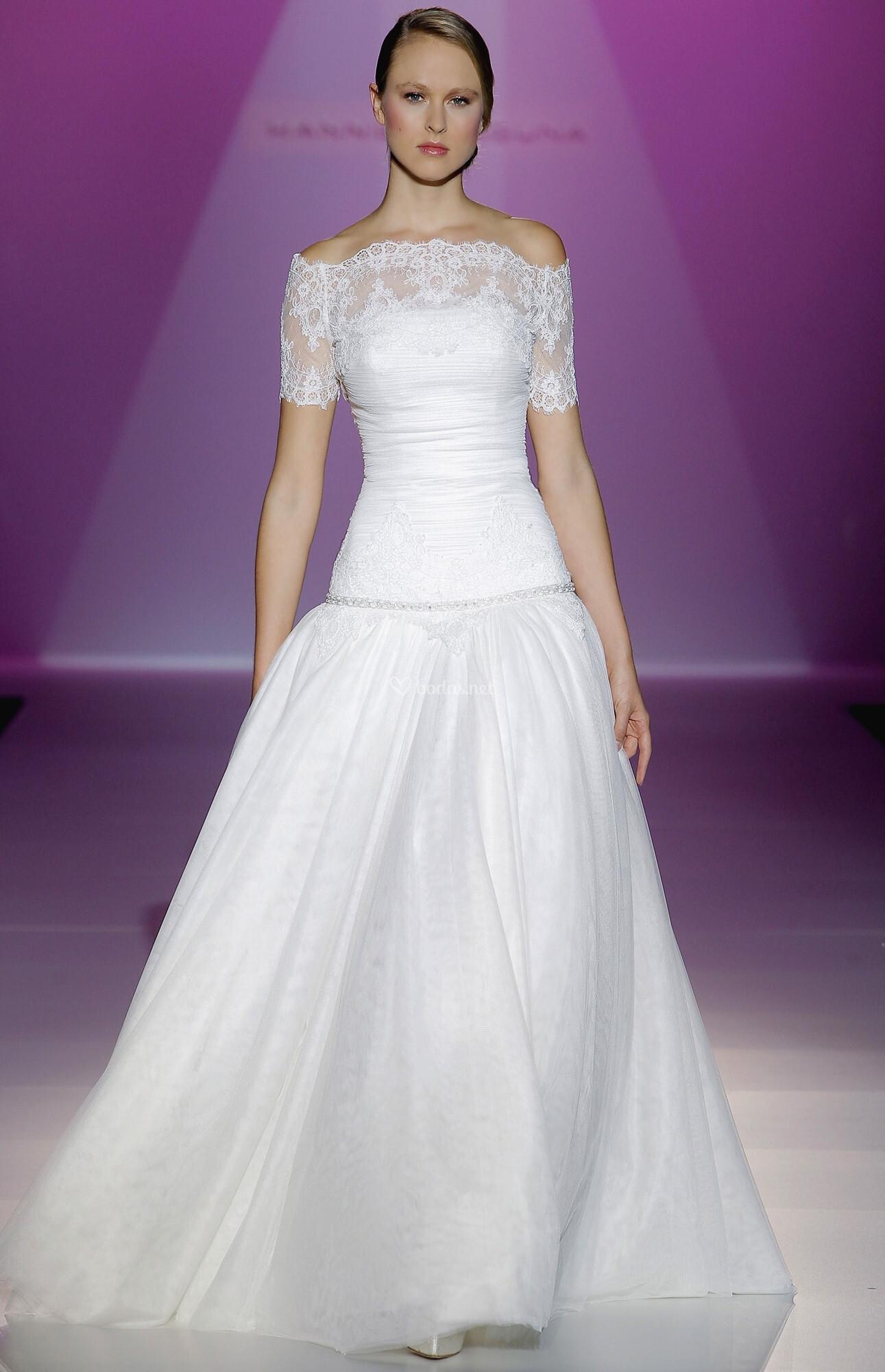 Bonito Vestido De Novia De Escote De La Reina Ana Modelo - Ideas de ...
