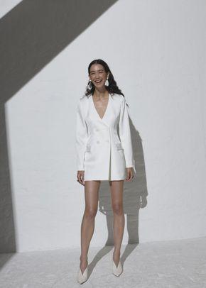 BOUTON BLAZER DRESS, 334