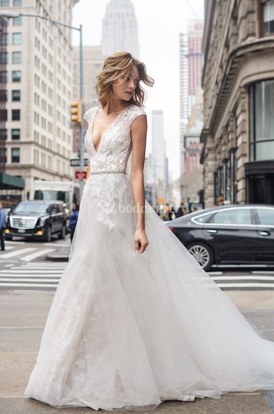 vestidos de novia de monique lhuillier - bliss (s / s) 2019 - bodas