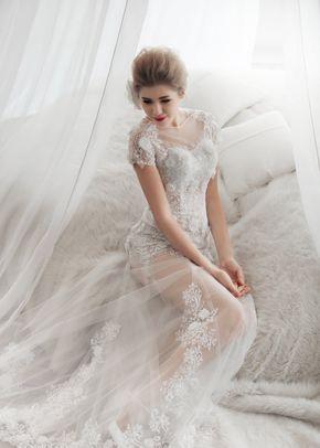 M6211 COVER , White Dress