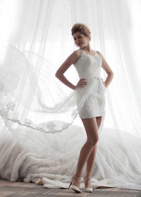 M6212  LYDIE , White Dress