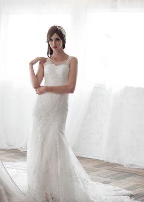 M6216 ALVY , White Dress