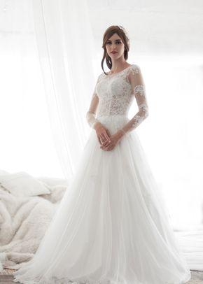 M6217 MILY , White Dress