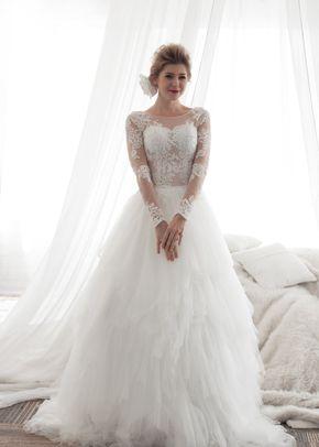 M6218 MOLLY , White Dress