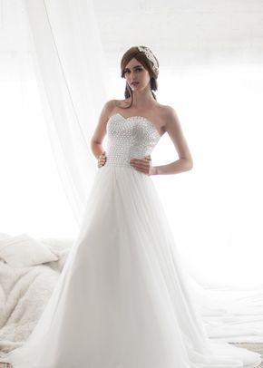 M6219 EBONY, White Dress