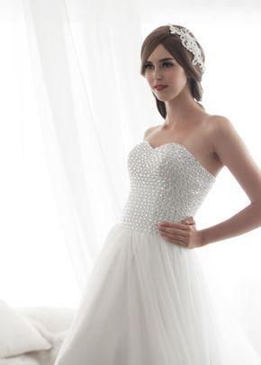 M6219 PORTRAIT, White Dress