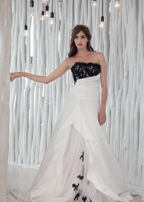 W6103 CLAUDIA , White Dress