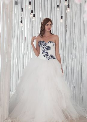 W6104 SONIA , White Dress