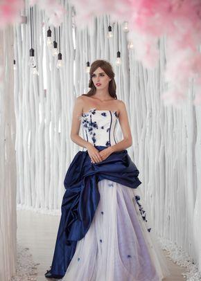 W6105 ABELLA , White Dress