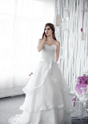 W6109 DIVA , White Dress