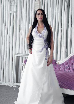 W6116 VERONICA , White Dress