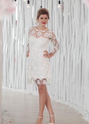 W6122 VALERYA , White Dress
