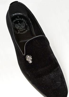 scarpa velluto nera teschio, Ottavio Nuccio Gala