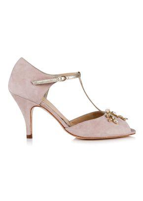 Amalia Powder Pink Suede, 686