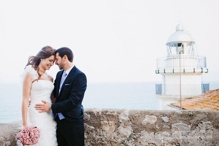 La boda de Alberto y Sara en Peñiscola, Castellón