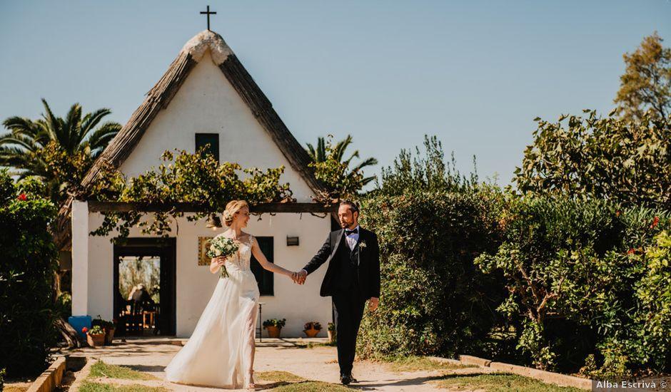 La boda de Alberto y Eleonora en El Palmar, Alicante