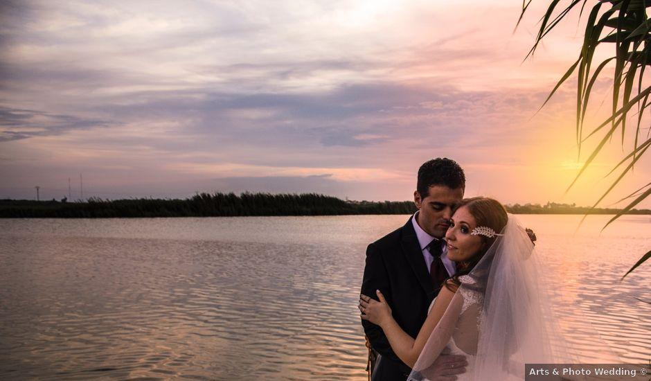 La boda de David y Karina en El Saler, Valencia