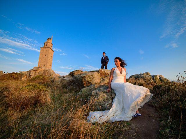 La boda de Andrés y Jessica en Santiago De Compostela, A Coruña 1