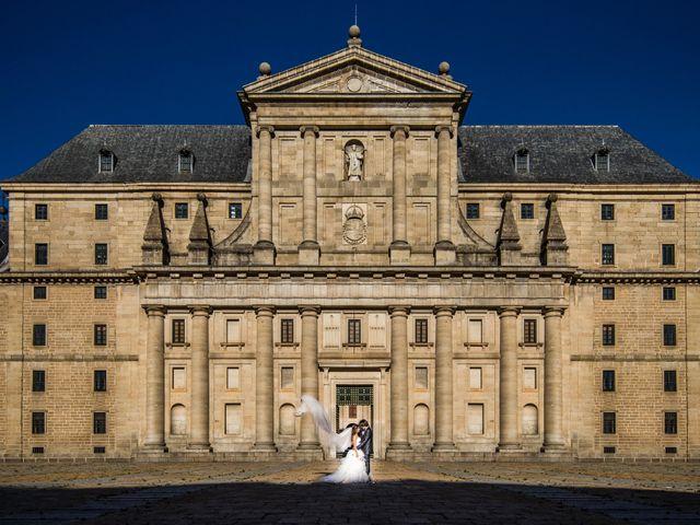 La boda de Eloy y Rocío en San Lorenzo De El Escorial, Madrid 1