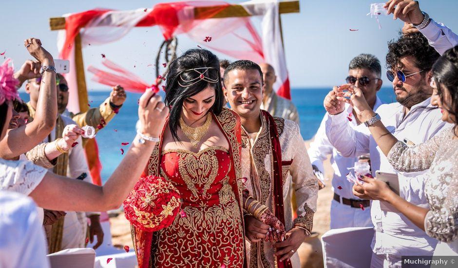 La boda de Ish y Naz en Cala Conta, Islas Baleares