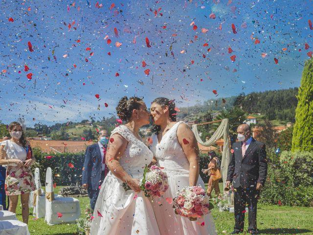 La boda de Fernanda y Maria en Naveces, Asturias 27