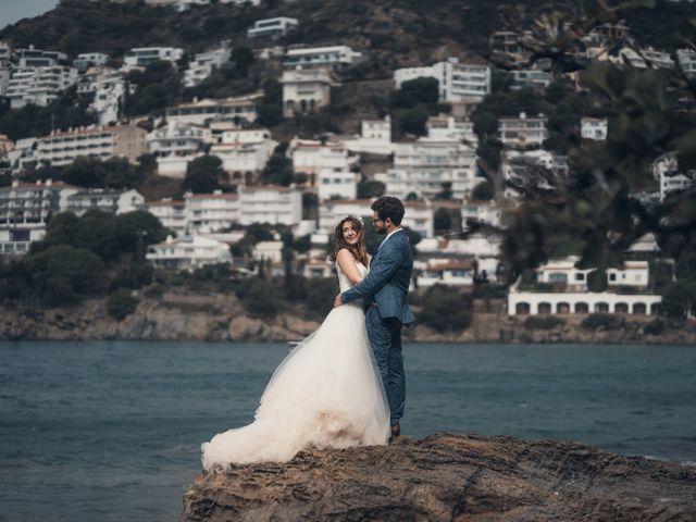 La boda de Adrian y Agathe en Bascara, Girona 75